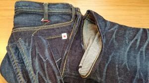 10ジーンズチェーンステッチ裾上げ